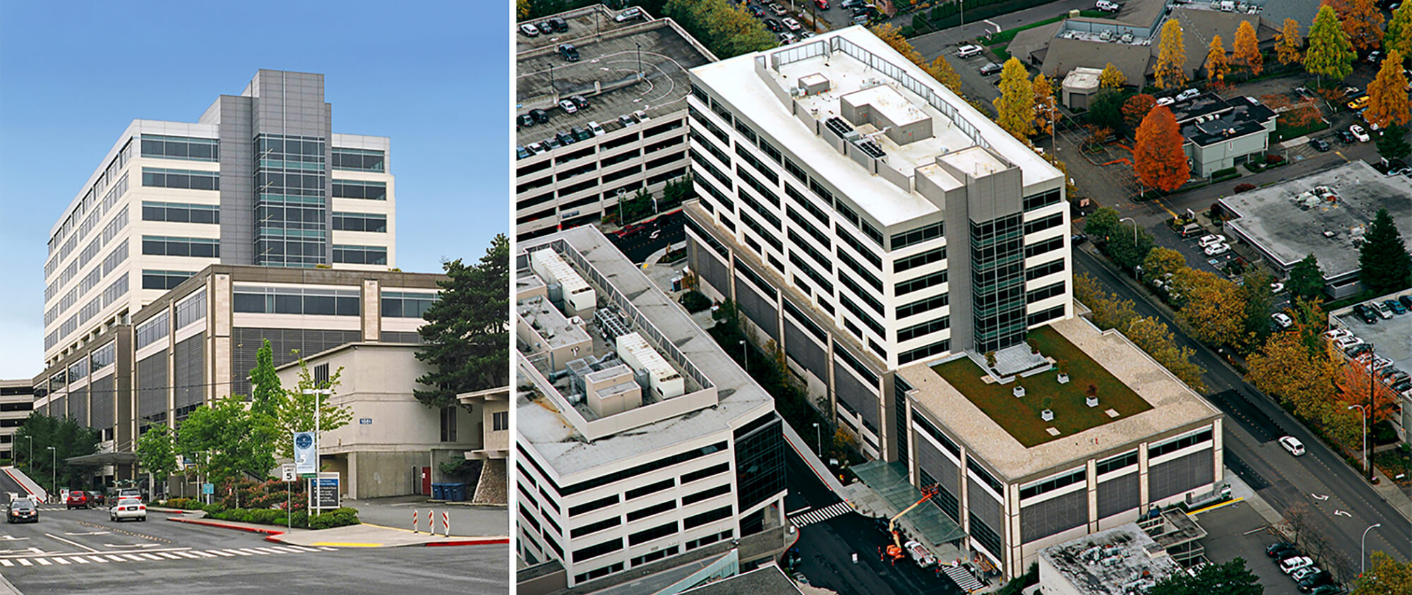 Overlake medical office building and parking garage for Build office in garage