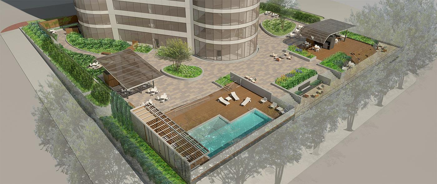 Portland Plaza Podium Deck Waterproofing General Contractor Construction Management